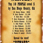 10 Most Wanted residents in San Diego County, California for lost money